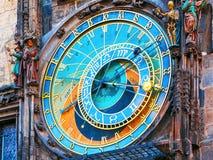 Astronomische klok in Praag, Tsjechische republiek Stock Foto