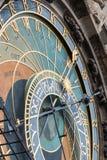 Astronomische klokketoren in Praag, Tsjechische Republiek - detail Stock Afbeelding