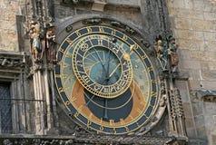 Astronomische Uhr Prag Orloj Prags auf der Wand von altem Stadtrathaus, Prag, Tschechische Republik Stockfoto