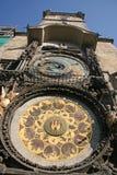 Astronomische Uhr Prag Orloj Prags auf der Wand von altem Stadtrathaus, Prag, Tschechische Republik Stockfotografie
