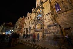 Astronomische Uhr Prags nach Erneuerung lizenzfreie stockfotos
