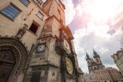 Astronomische Uhr Prags u. x28; Orloj& x29; in der alten Stadt von Prag Lizenzfreie Stockbilder