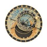 Astronomischer Borduhrausschnitt Prag-Orloj Lizenzfreie Stockfotos