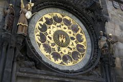Astronomischer Kalender in Prag Lizenzfreie Stockfotos