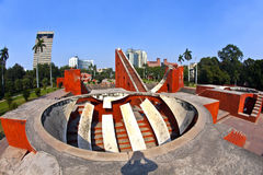 Astronomisches Observatorium Jantar Mantar in Delhi Stockfotografie