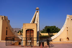 Astronomisches Observatorium Jantar Mantar in Jaipur, Rajasthan, Ind Stockbilder