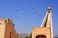 Astronomisches Observatorium Jantar Mantar in Jaipur, Rajasthan, Ind Stockfotos