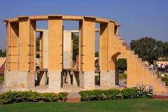 Astronomisches Observatorium Jantar Mantar in Jaipur, Rajasthan, Ind Stockbild