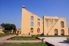 Astronomisches Observatorium Jantar Mantar in Jaipur, Rajasthan, Ind Lizenzfreie Stockfotografie