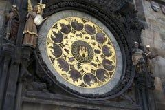 Astronomisk kalender i Prague Royaltyfria Foton
