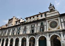 Astronomisk klocka i Brescia Fotografering för Bildbyråer