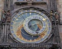 Astronomisk klocka i prague Arkivfoto