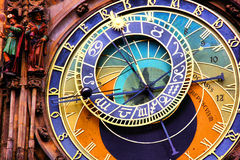 Astronomisk klocka, Prague Arkivbilder