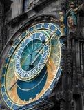 Astronomisk klocka - Praha gränsmärke Royaltyfria Bilder