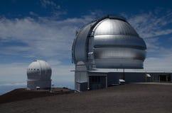 Astronomisk observatorium på maunakea Royaltyfria Bilder