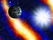 Astronomy. Space and astronomy. A congestion of stars and Earth Royalty Free Stock Photography