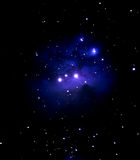 Astronomy. Blue Nebula Stock Images