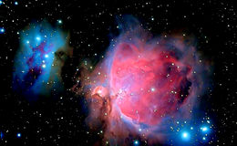 Astronomy. Orion Nebula - detail taken through telescope Stock Photography