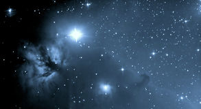 Astronomy. Horsehead Nebula in Orion - Astronomical Photograph taken through telescope Royalty Free Stock Photos