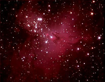 Astronomy. M16 Eagle Nebula detail taken through telescope Stock Images