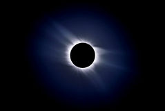 Astronomy. Corona around total eclipse of Moon Royalty Free Stock Image