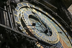 Astronomy clock. Old astronomy clock on a old town hall building in Prague, Czech Republic Royalty Free Stock Photography