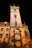 Astronomy Clock. Night view on Astronomy clock in Prague, Czech Republic Royalty Free Stock Photos