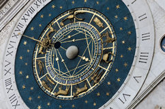 The astronomy clock. Details of the astronomc clock in padua. star. zodiac. time Royalty Free Stock Photos