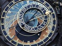 Astronomy clock, prague. Close up of the astronomy clock in prague Stock Photos
