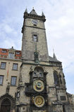 Astronomy Clock Tower from Prague in Czech Republic Royalty Free Stock Image