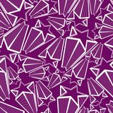 Astronomy conceptual vector background, pentagonal comet stars Stock Images