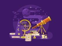 Astronomy design retro Royalty Free Stock Photography