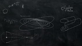 Astronomy Equations Chalkboard Black