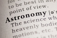 Astronomy. Fake Dictionary, Dictionary definition of the word Astronomy. including key descriptive words stock photos