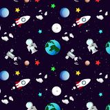 Astronomy, galaxy and space pattern with stars scatter shiny abs vector illustration