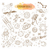 Astronomy Hand Drawn Illustrations. Vector astrology doodles. Stock Image