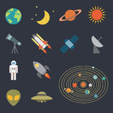 Astronomy icon Royalty Free Stock Image