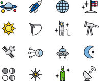 Astronomy icons Royalty Free Stock Photos