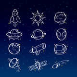 Astronomy icons Stock Photos
