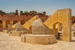Astronomy instruments in Jantar Mantar Stock Photos