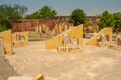 Astronomy instruments in Jantar Mantar Royalty Free Stock Photo