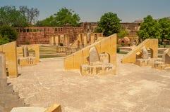 Astronomy instruments in Jantar Mantar Royalty Free Stock Photo