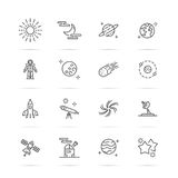 Astronomy Line Icons Stock Image