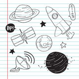 Astronomy Object Doodle Stock Image