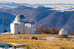 Astronomy observatory mountains Royalty Free Stock Images