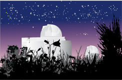 Astronomy observatory at nigth Royalty Free Stock Photo