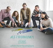 Astronomy Science Solar System Astrology Shooting Star Concept Stock Images