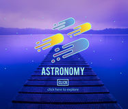 Astronomy Science Solar System Astrology Shooting Star Concept Stock Photo