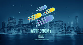 Astronomy Science Solar System Astrology Shooting Star Concept.  Royalty Free Stock Photography