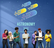 Astronomy Science Solar System Astrology Shooting Star Concept Royalty Free Stock Photography